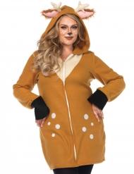 Costume lusso da cerbiatto per donna taglie grandi