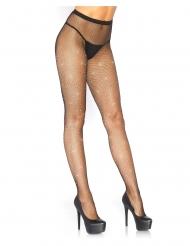 Calze a rete nere con strass donna