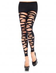 Calze nere opache senza piedi a lembi per donna