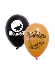 10 palloncini neri e arancioni per Halloween