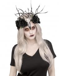 Corona floreale Raven donna