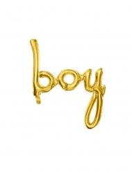 Palloncino alluminio Boy dorato 63 x 74 cm