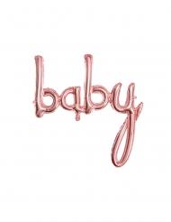 Palloncino alluminio baby rosa dorato 73 x 75 cm
