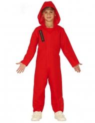 Costume tuta rossa da rapinatore bambino