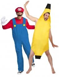Costume di coppia Super Mario™ e banana adulto