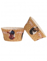 25 Pirottini per cupcakes in carta Ladybug™ 5 x 3 cm