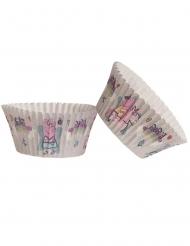 25 Pirottini per cupcakes in carta Peppa pig™ 5 x 3 cm
