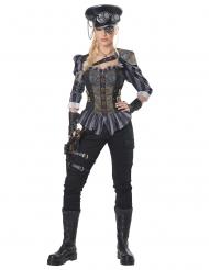 Costume capitano steampunk donna