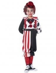 Costume da clown rosso bambino