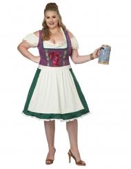 Costume bavarese grande taglia donna