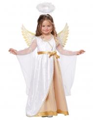 Costume piccolo angelo bianco e oro bambina
