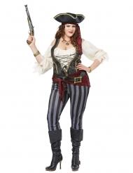 Costume pirata con pantaloni grande taglie donna