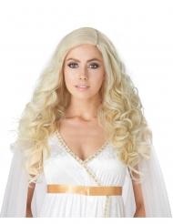 Parrucca lusso bianda lunga e riccia donna