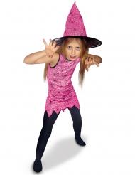 Costume da strega rosa per bambina