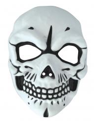 Maschera scheletro PVC adulto