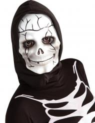 Maschera da scheletro con cappuccio bambino