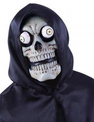 Maschera scheletro con occhi fuori dalle orbite adulto