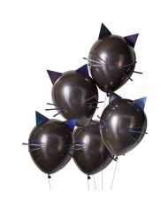 5 Palloncini in lattice gatto nero