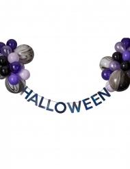 Kit ghirlanda Halloween con palloncini neri e viola