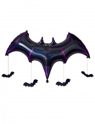 Palloncino in alluminio Pipistrello viola 130 x 80 x 20 cm