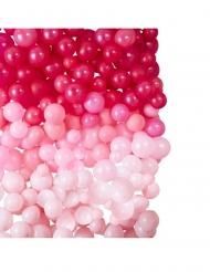 Sfondo decorativo 210 palloncini rosa 200x200 cm
