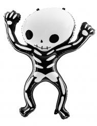 Palloncino in alluminio scheletro bianco e nero
