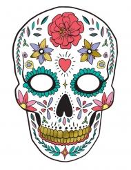 Maschera in cartone dia de los muertos bianca