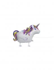 Palloncino alluminio unicorno con piedini