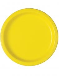16 Piatti in cartone giallo chiaro
