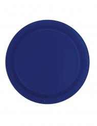 16 Piatti in cartone blu marino
