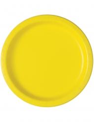 20 Piattini in cartone gialli