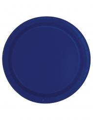 20 Piattini in cartone blu