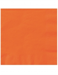 20 Tavagliolini di carta arancioni 25 x 25 cm
