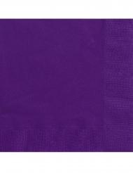 20 Tovaglioli piccoli in carta viola scuro 25 cm