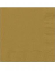 20 Tovagliolini di carta dorati 25 x 25 cm