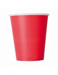 8 Bicchieri in cartone rosso
