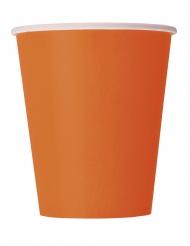 14 Bicchieri di carta arancioni 266ml