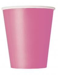 8 Bicchieri di carta rosa 266ml