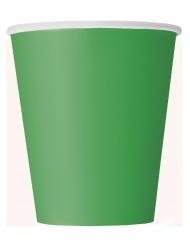 8 Bicchieri di carta verde 266ml