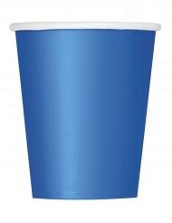 8 Bicchieri di carta blu 266ml