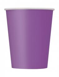 8 Bicchieri in carta viola 266 ml