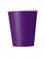 8 Bicchieri in cartone viola scuro 266 ml