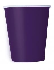 14 Bicchieri in cartone viola scuro 266 ml