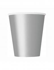 8 Bicchieri di carta argentati 266ml