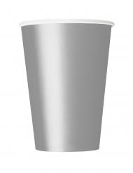 14 Bicchieri di carta argentati 266ml