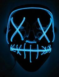 Maschera led luminosa blu adulto