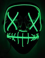Maschera led luminosa verde adulto