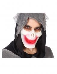Mezza maschera scheletro insanguinato