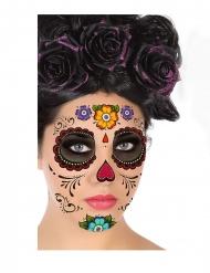 Tatuaggio per viso dia de los muertos adulto