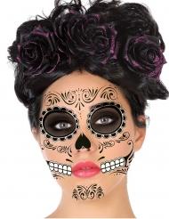 Tatuaggi viso Dia de los Muertos nero